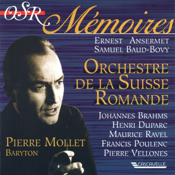 Brahms - Ravel - Poulenc - Pierre Mollet - Orchestre de la Suisse Romande - Ernest Ansermet