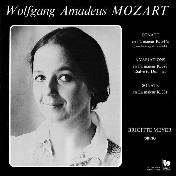 Wolfgang Amadeus Mozart : Piano Sonatas - Brigitte Meyer