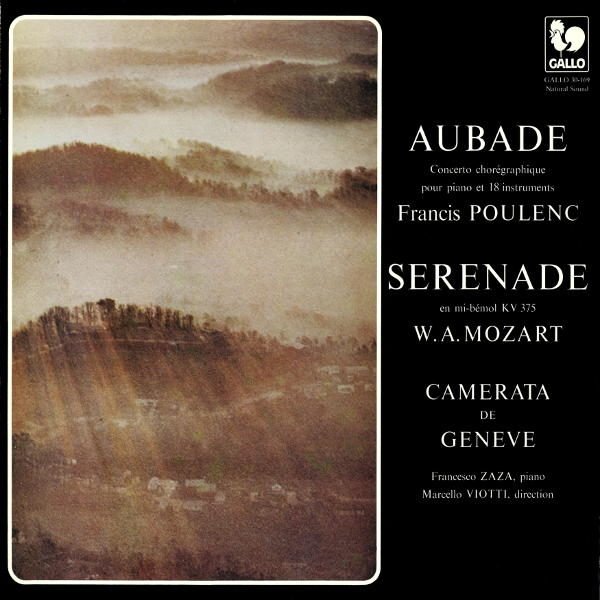 Francis POULENC: Aubade, FP 51 – Wolfgang Amadeus MOZART: Serenade No. 11 in E-Flat Major, K. 375 – La Camerata de Genève, Marcello Viotti, direction.