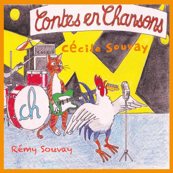 Contes en chansons: Lou et Malika - Le crapaud et la princesse - Fleurs d'écume - Alice et les oiseaux - Les musiciens de Brême... Cécile Souvay.