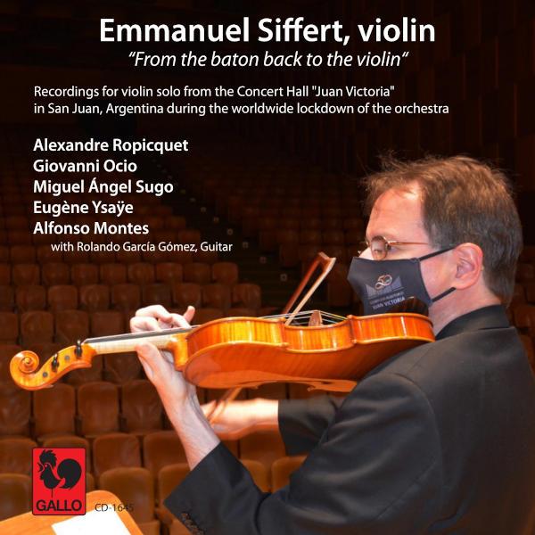 Alexandre ROPICQUET: Le Divertissement, Op. 9 - OCIO: Bagatella - SUGO: Sotiksom - YSAŸE: Ballade... Emmanuel Siffert, Solo Violin
